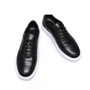 Custom Black Leather Sneaker