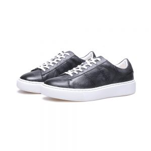 Custom Grey Leather Sneaker