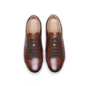 Custom Brown Leather Sneake