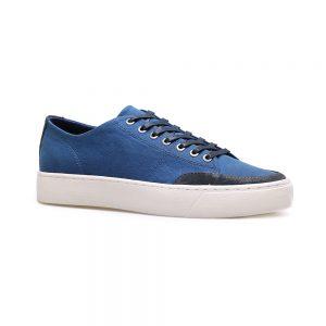 Custom Platform Casual Blue Suede Leather Men