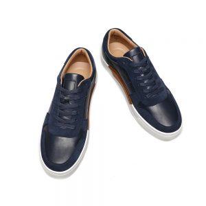 Custom Black/Blue Leather Sneaker